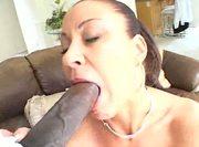 Black dick rides her POV