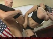 Slut gets fucked in office