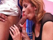 Mature interracial vagina fuck