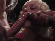 American Cocksucking Championships - blond and black bitch in the boxing ring