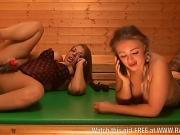 Beth and Tamara lesbian action in sauna