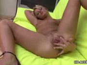Blonde angel is having fun with her soaking w