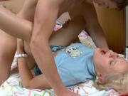 Blonde Girl Getting Asshole Destroied