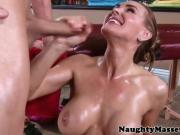 Massaged oily MILF Tanya Tate dick drools