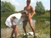Gay group fucking outdoor