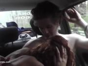 MILF does handjob, BJ and fucks in taxi