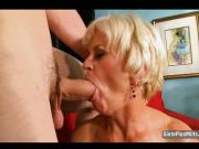 Blonde Gilf Cocksucker