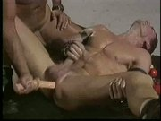 Gay in dildo action