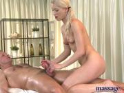 Massage Rooms Athletic blonde has tight body
