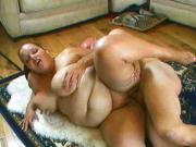 Huge girl fucked on the floor