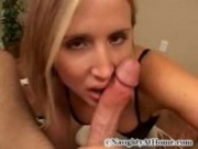 Blond Babe enjoying big Dick