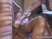 Very sloppy and nasty double penetration fuck