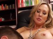 Gorgeous blonde MILF teacher shows tight bod