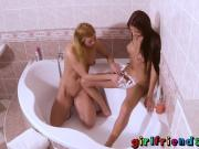 Girlfriends Friends shave each other and fuck