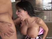 Milf babe is on the pecker giving it a full s