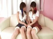 Japanese schoolgirls anal play