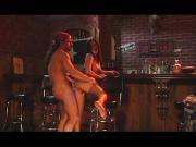 Hot babe fucked at the bar