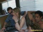 cute teens first gangbang in my bangvan