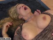 Old blonde woman still loves big hard dick