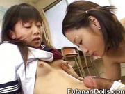Teen Licks Futanari Cock!