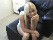 Blond bimbo Jimmy gobbles and worships fat knob