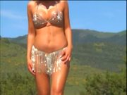 Jewelry Bikini Help To Seduce A Stallion Near Pool