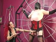 Ruthless Mistress Leathers Her Plump Sex Partner