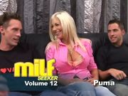Puma Swede is happily getting going with two dicks at the same time