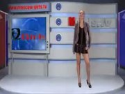 Russian Beauty Alena Undresses In Public At TV Show