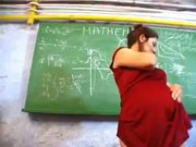 Pregnant Teacher Is Alone In Classroom And Toys Herself