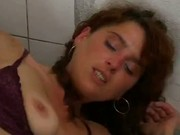 Enjoy Incredible Sex Of Blonde In Public Toilet!