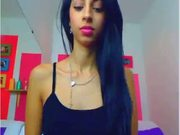 Freaky Latino Web Cam Model Is Leaping On The Dildo