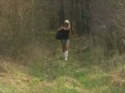 Blonde Mil Suddenly Wants Suck Cock In A Forest