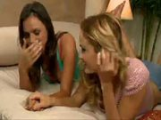 Tori Black and a sizzling blonde having a lesbian party