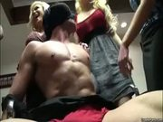 Freak blond plays kinky games with stud in office