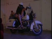 Blond Beauty Fucks On A Motorbike With Horny Biker