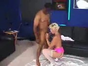 Blonde Bitch Shows How To Suck On A Huge Cock