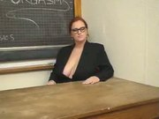 Breasty Teacher Is Going Done With Lezzo Pupil