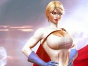 Personality Cult: Busty Supergirl Poses For Fans