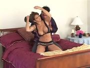 Teri Weigel and her mad tits give pleasure to a guy