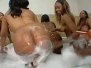 Two Ebony Bbw Girls Lose Control On Getting Fucked By Big Cocked Black Fellows