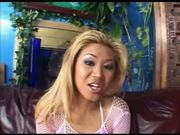 Blond Asian Whore Tries Anal Drilling Wih Negro