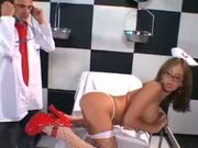 Naughty Tory Lane helps doc with anal intercourse