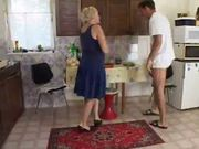 Hot Granny Mature Gets Hardcored In The Kitchen