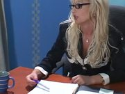 Classy MILF With Glasses Gets Roughly Fucked