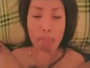 Asian girlfriend suck and facial at 5ilthy
