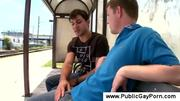 Public blowjob at the busstop at 5ilthy