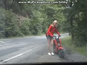 Blondie fucked near the road at 5ilthy