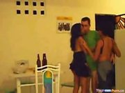 Latina Homemade Threesome at 5ilthy