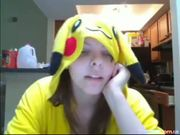 Teen In Pokemon Pikachu Outfit Masturbates at 5ilthy